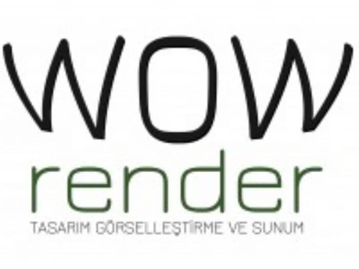 Wow Render 3D Logo
